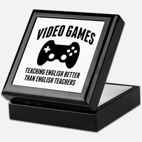 Video Games Teaching English Keepsake Box
