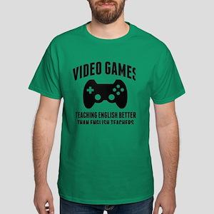 Video Games Teaching English Dark T-Shirt