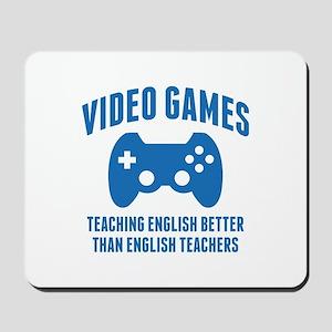 Video Games Teaching English Mousepad