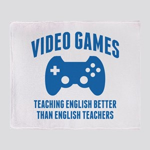 Video Games Teaching English Stadium Blanket