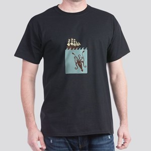 Giant Squid Ship T-Shirt