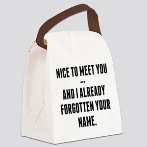 Nice To Meet You... Canvas Lunch Bag