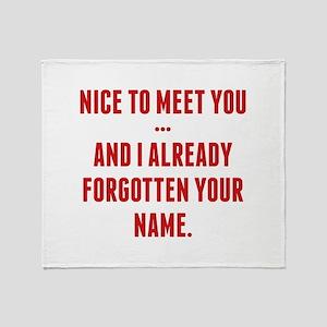 Nice To Meet You... Stadium Blanket