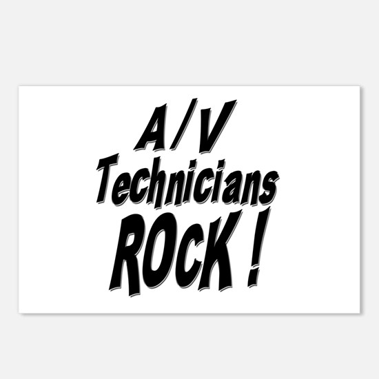 A/V Techs Rock ! Postcards (Package of 8)