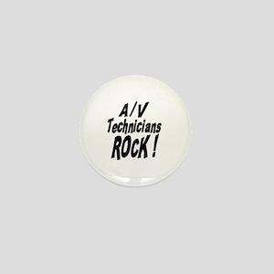 A/V Techs Rock ! Mini Button