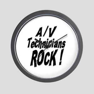 A/V Techs Rock ! Wall Clock