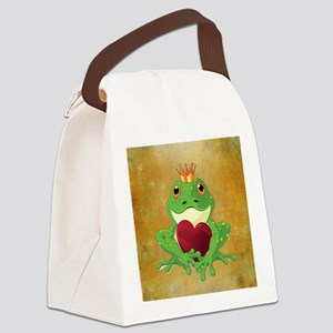 FROG PRINCE Canvas Lunch Bag