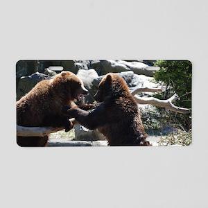 Brawling Bears Aluminum License Plate