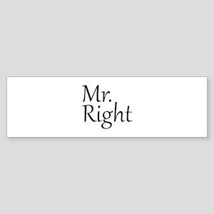Mr. Right Sticker (Bumper)