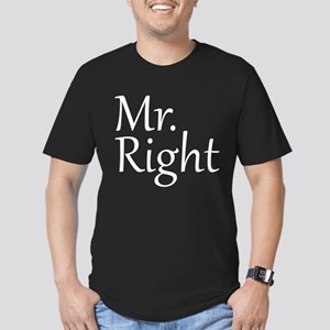 Mr. Right Men's Fitted T-Shirt (dark)