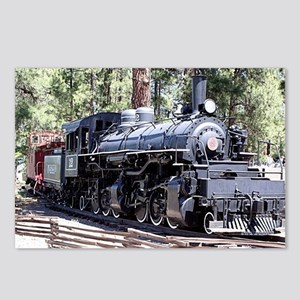 Steam train engine, Flags Postcards (Package of 8)