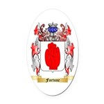 Fortune Oval Car Magnet