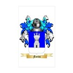Fortis Sticker (Rectangle 50 pk)