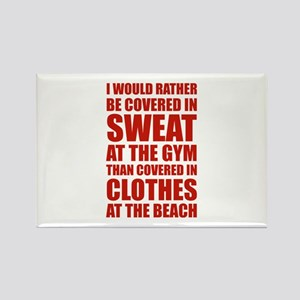 Covered In Sweat At The Gym Rectangle Magnet