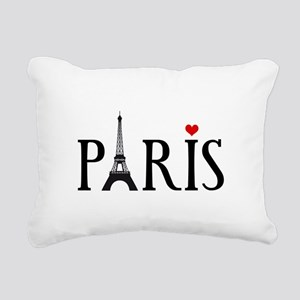 Paris with Eiffel tower, French word art Rectangul