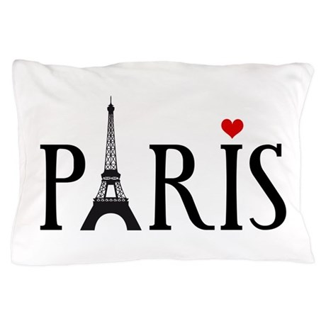 Paris With Eiffel Tower French Word Art Pillow Ca By