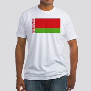 Belarus flag Fitted T-Shirt