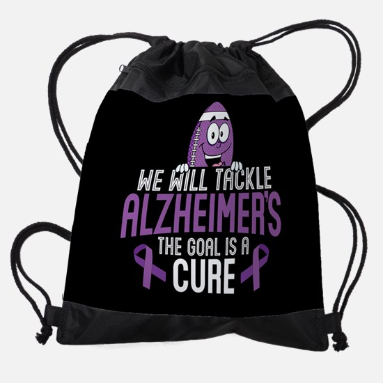 Tackle Alzheimers Drawstring Bag