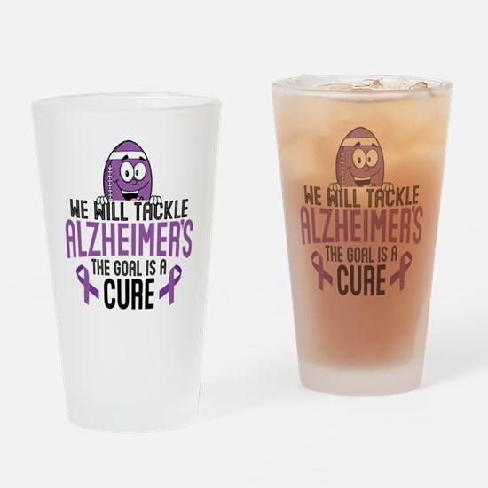 Tackle Alzheimers Drinking Glass