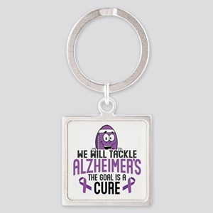 Tackle Alzheimers Square Keychain