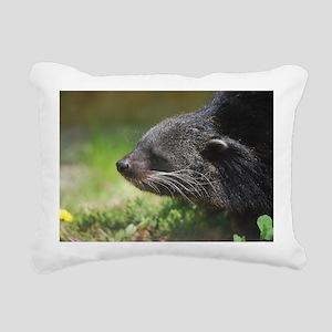 Cute Asian Bearcat Rectangular Canvas Pillow