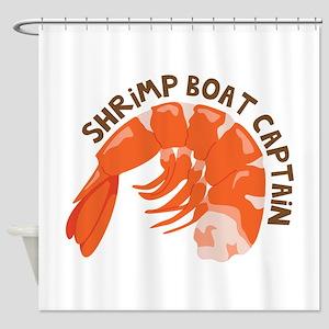 Shrimp Boat Captain Shower Curtain