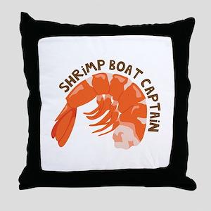 Shrimp Boat Captain Throw Pillow