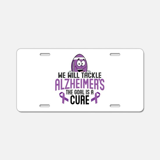 Tackle Alzheimers Aluminum License Plate