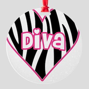 diva Round Ornament