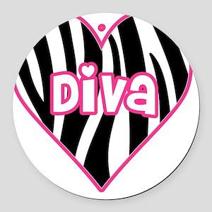 diva Round Car Magnet