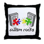 Autism Rocks!! Throw Pillow