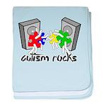 Autism Rocks!! baby blanket