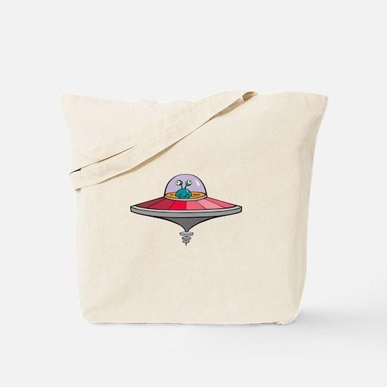 Alien Saucer Tote Bag