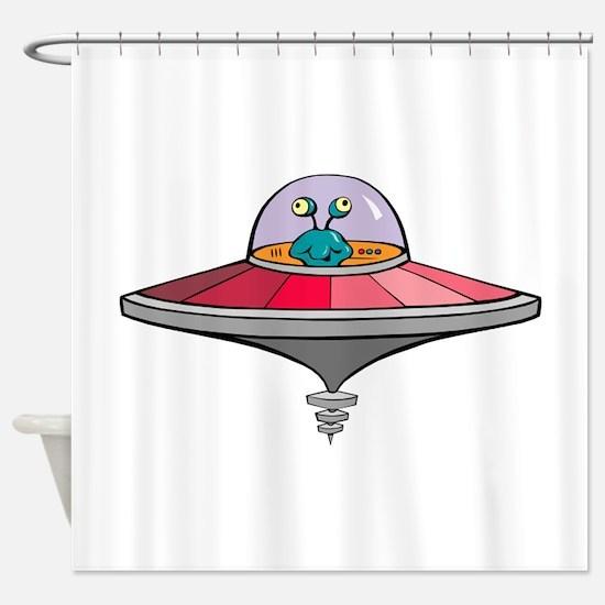 Alien Saucer Shower Curtain