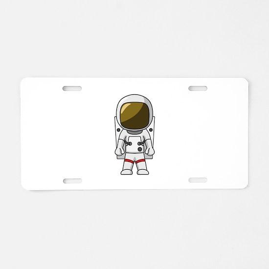 Astronaut Aluminum License Plate