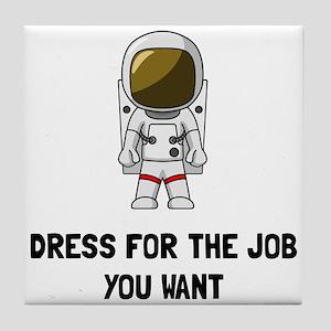 Astronaut Dress Tile Coaster