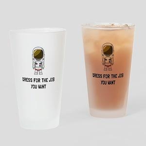 Astronaut Dress Drinking Glass