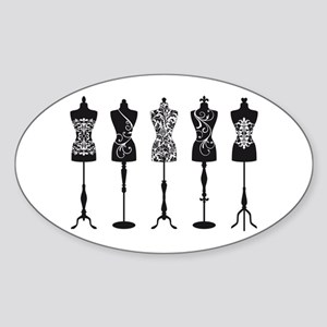 Vintage fashion mannequins Sticker