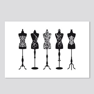 Vintage fashion mannequins Postcards (Package of 8