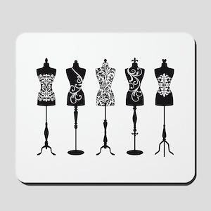 Vintage fashion mannequins Mousepad