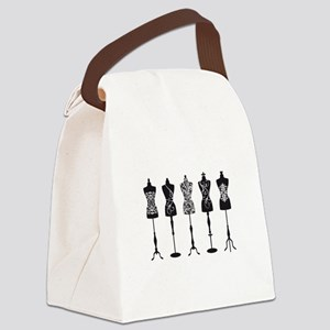 Vintage fashion mannequins Canvas Lunch Bag