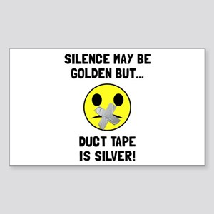 Duct Tape Silver Sticker