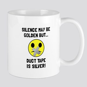 Duct Tape Silver Mugs