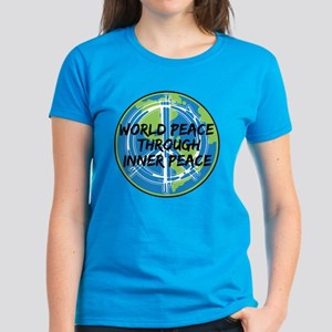 World Peace Through Inner Pea Women's Dark T-Shirt