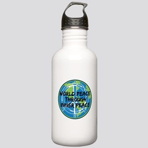 World Peace Through In Stainless Water Bottle 1.0L
