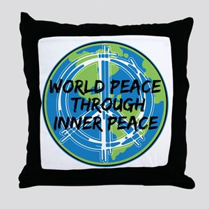 World Peace Through Inner Peace Throw Pillow