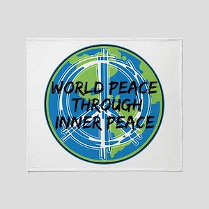 World Peace Through Inner Peace Throw Blanket