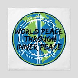 World Peace Through Inner Peace Queen Duvet