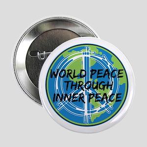 "World Peace Through Inner Peace 2.25"" Button"