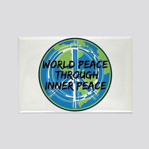 World Peace Through Inner Peace Rectangle Magnet